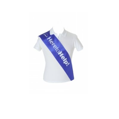 Deluxe Promotional Sash - 5 3/4 inch wide x 68 inch long