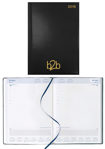Strata A4 Desk Diary - Page a Day - Unpadded Cover